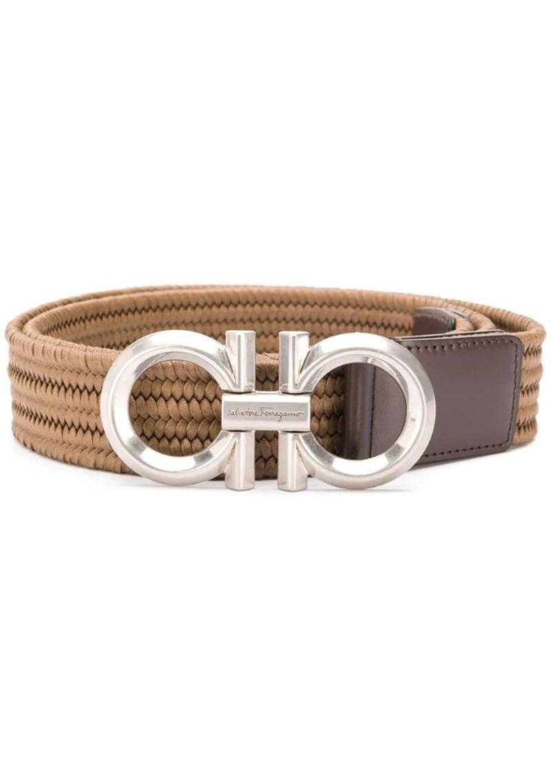 Ferragamo Gancio woven belt