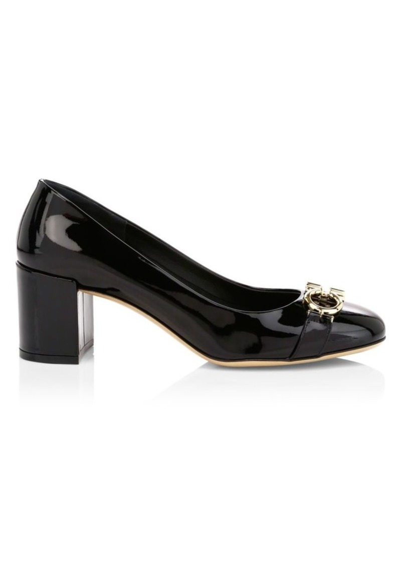 Ferragamo Garda Patent Leather Pumps