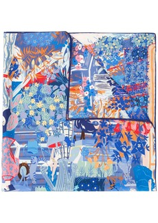 Ferragamo garden print scarf