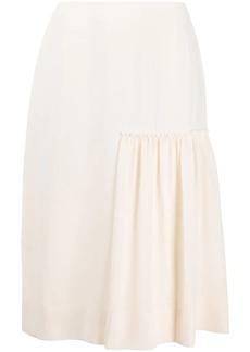 Ferragamo gathered-detail midi skirt