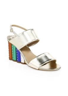 Ferragamo Gavi Studded Wedge Sandals