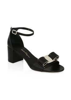 Ferragamo Gavina Studded Ankle-Strap Sandals
