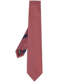 Ferragamo geometric embroidered tie