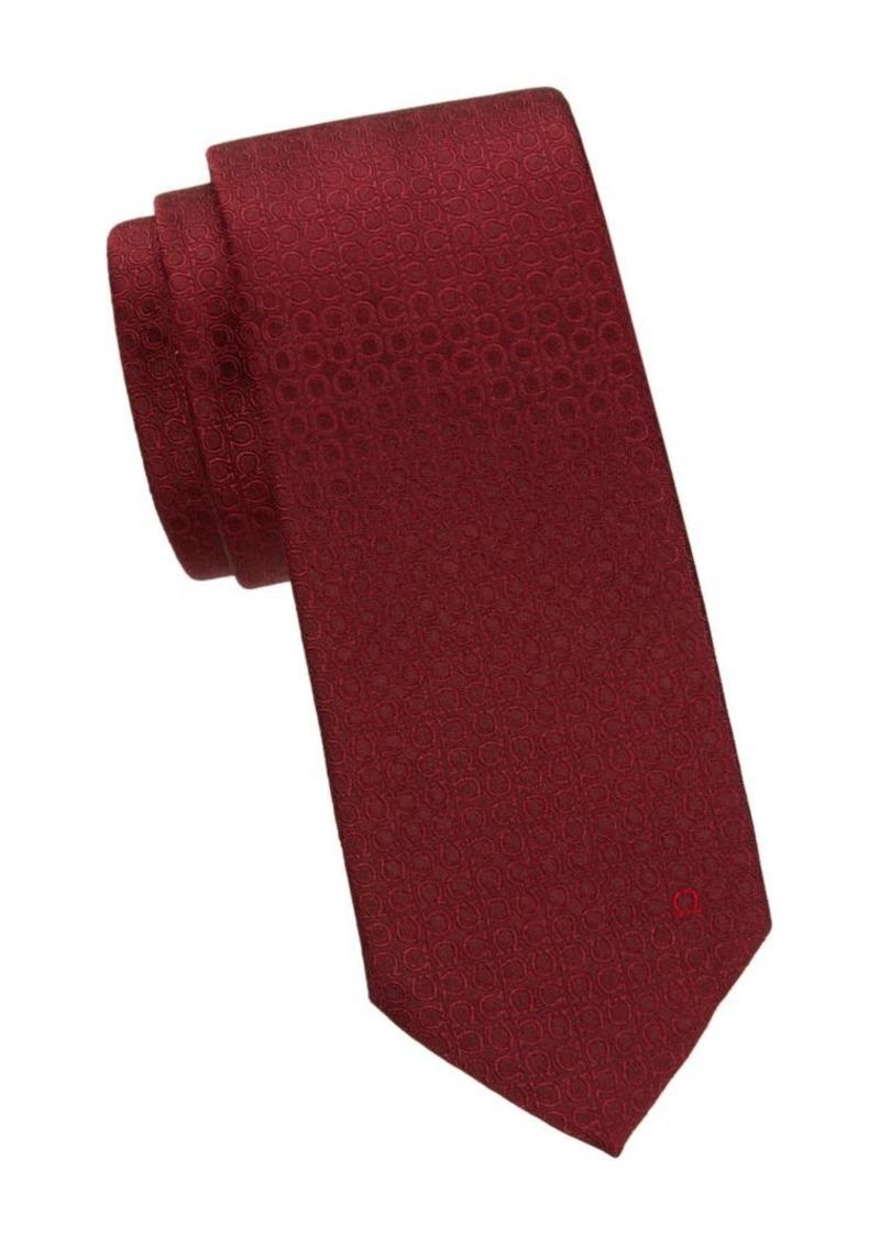 Ferragamo Geometric Jacquard Silk Tie