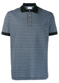 Ferragamo geometric print polo shirt