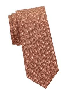 Ferragamo Geometric-Print Silk Tie