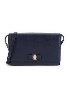 Ferragamo Ginny Leather Shoulder Bag