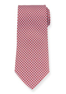 Ferragamo Girella Diamond Silk Tie  Red