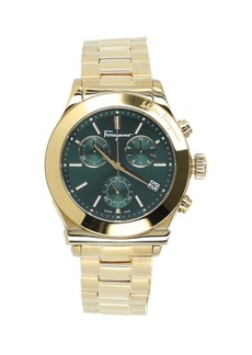 Ferragamo Goldtone Stainless Steel Chronograph Watch