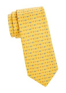 Ferragamo Graphic Print Silk Tie