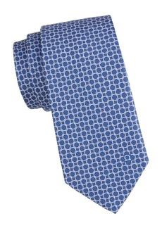 Ferragamo Grid-Link Print Tie