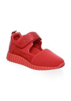 Ferragamo Grip-Tape Leather Sneakers