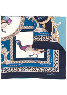 Ferragamo Heritage print square scarf