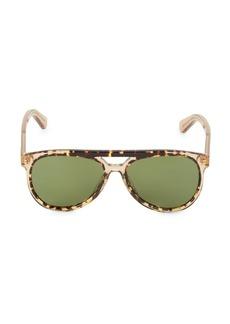 Ferragamo Hi-Tech 57MM Brow Bar Aviator Sunglasses