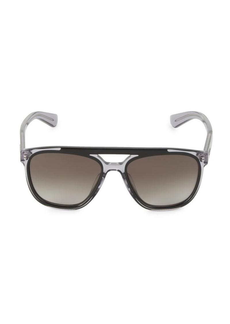Ferragamo Hi-Tech 57MM Brow Bar Square Sunglasses