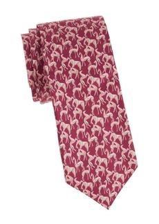 Ferragamo Horse Silk Tie