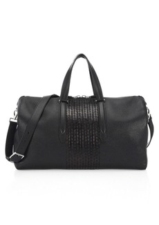 Ferragamo Interlace Leather Duffel Bag