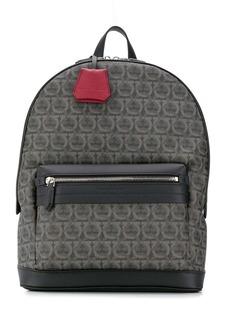 Ferragamo interlocking Gancini print backpack