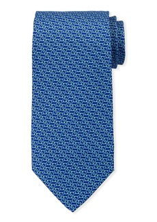 Ferragamo Interlocking Gancini Silk Tie