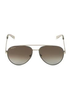 Ferragamo Italian Lifestyle 52MM Aviator Sunglasses