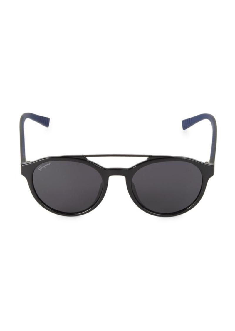 Ferragamo Italian Lifestyle 52MM Round Sport Sunglasses