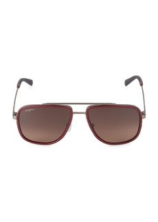 Ferragamo Italian Lifestyle 57MM Navigator Sunglasses