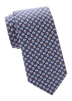 Ferragamo Jumping Fish Silk Tie