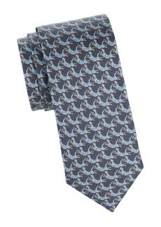 Ferragamo Jumping Tigers Silk Tie