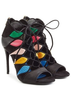 Ferragamo Lace-Up Sandals with Leather