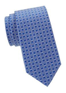Ferragamo Large Gancini Silk Tie