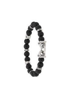 Ferragamo lava stone bead Gancini bracelet