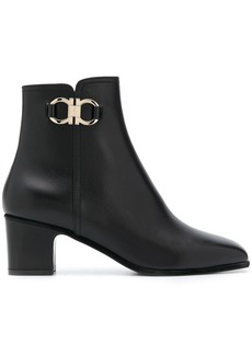 Ferragamo leather ankle boots