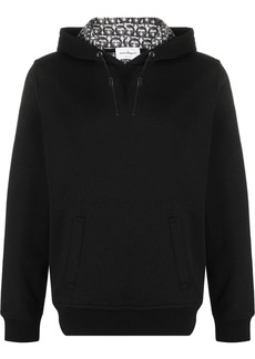 Ferragamo leather-drawcord hooded sweatshirt