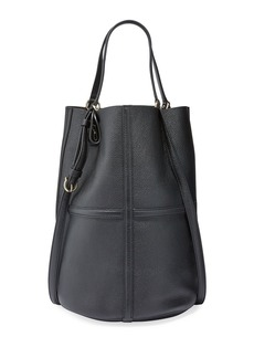 Ferragamo Leather Medium Bucket Tote Bag