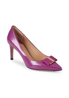 Ferragamo Leather Point-Toe Pumps