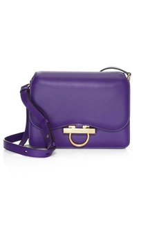 Ferragamo Leather Ring Shoulder Bag