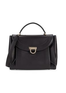 Ferragamo Leather Saddle Bag