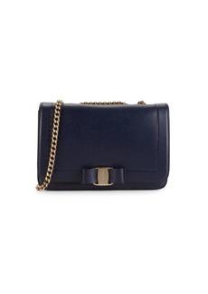 Ferragamo Leather Shoulder Flap Bag