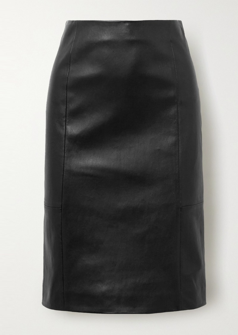Ferragamo Leather Skirt
