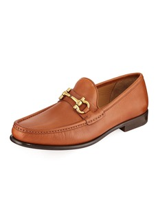 Ferragamo Leather Slip-On Loafer