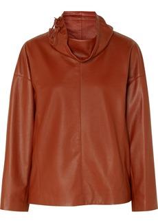 Ferragamo Leather Turtleneck Top