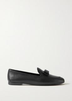 Ferragamo Lesley Bow-embellished Leather Loafers