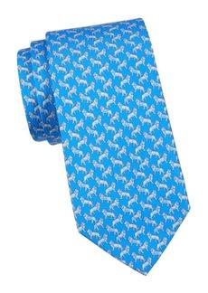 Ferragamo Lion Silk Tie