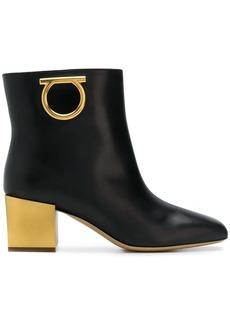 Ferragamo logo ankle boots