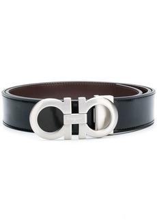 Ferragamo logo buckle mid width belt