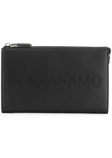 Ferragamo logo clutch bag