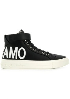 Ferragamo logo hi-top sneakers