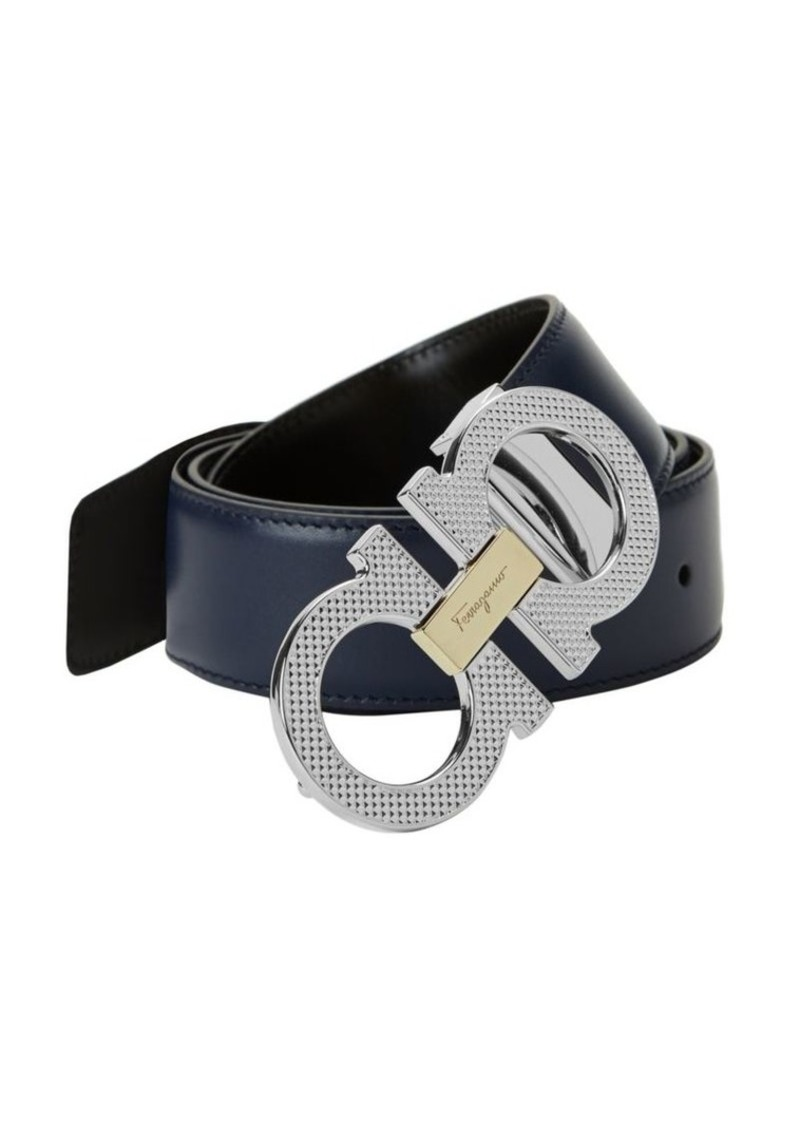 Ferragamo Logo Leather Belt