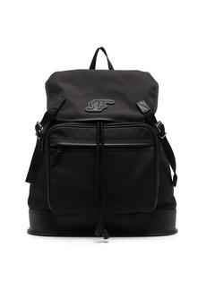 Ferragamo logo-patch backpack