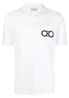 Ferragamo logo patch polo top